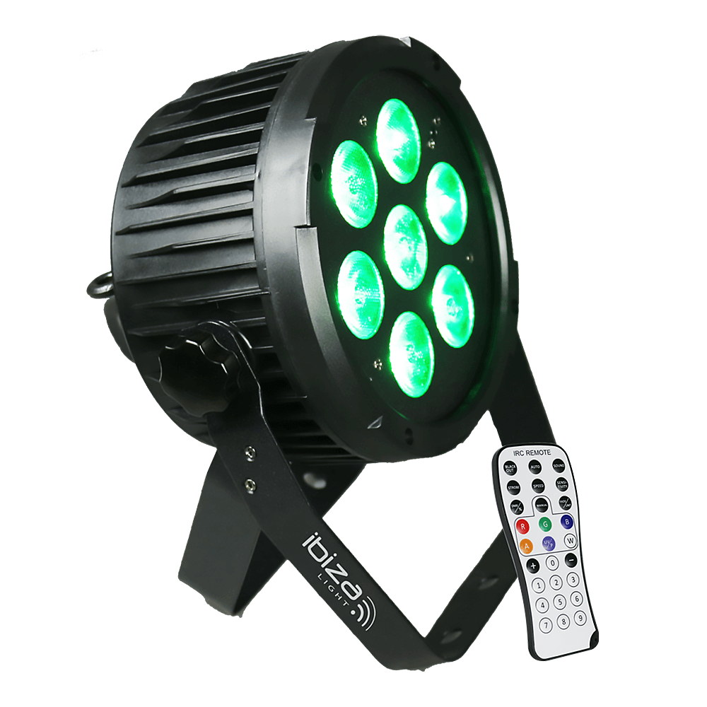 Ibiza Light PARLED712IR 6-in-1 DMX LED PAR Can