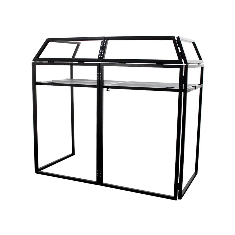 Ibiza Sound DS40 DJ Booth Stand inc White/Black Lycra and Carry Bag Disco Wedding