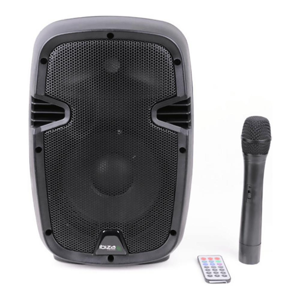 """Ibiza Hybrid 8"""" 300W Portable Battery PA System inc. Wireless Handheld Mic and Remote"""