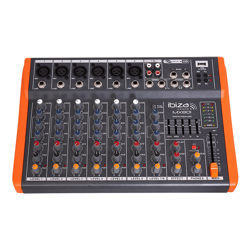 Ibiza Sound MX801 8 Channel Mixer