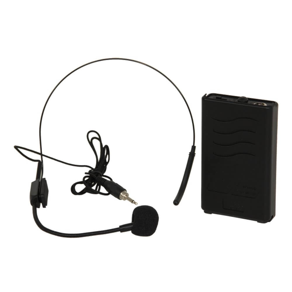 Ibiza Port8-10-12-15uhf 865mhz Headset Mic Transmitter Beltpack for Portable PA