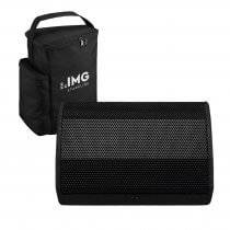 IMG Stageline FLAT-M100 Foldback Monitor Speaker 100W inc Carry Bag