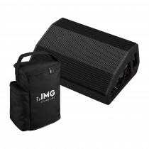 IMG Stageline Flat-M200 Active Speaker Bundle