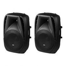 2x IMG Stageline PAK-15DMP Active Speaker System