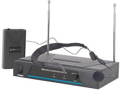 QTX Sound VHF Headset Microphone Wireless Radio Microphone Stage VN1