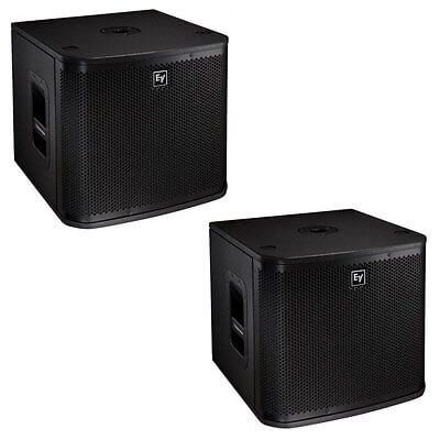 "2x Electro-Voice (EV) ZXA1 12"" Powered Subwoofer"