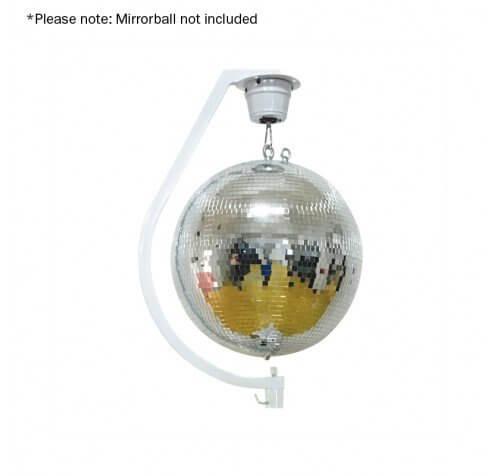 "Equinox Curve Mirror Ball Hanging Bracket (upto 30cm/12"" mirroballs)"