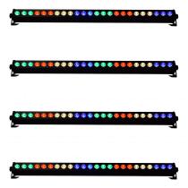 4x QTX C-BAR 24 x 3W RGB DMX LED 1M Bar Battens