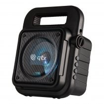 QTX Effect Portable Bluetooth Party Speaker Sound System inc Microphone