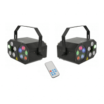 2x QTX LED Gobo Starwash Laser Effects Light inc. Remote