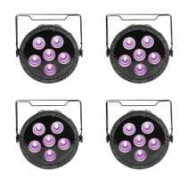 4x QTX PAR180 High Power COB Par Can 6 x 30W RGB LED Lighting DMX + Remote