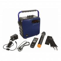 QTX QX05PA Portable Speaker inc. Wireless Mic, Remote & Strap (Blue)