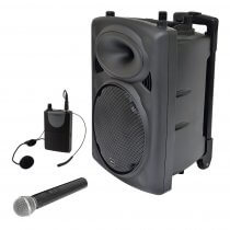 QTX QR10PA Portable PA System with VHF Wireless Neckband & Handheld Mic