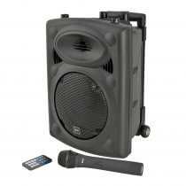 QTX QR8PABT Portable PA with Bluetooth inc Wireless Mic