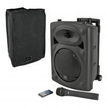 QTX QR8PABT Portable PA Speaker with Wireless Mic inc Cover