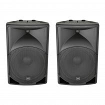 "2x QTX QS15 Passive 15"" Speaker 700W PA System ABS DJ Disco Sound System"