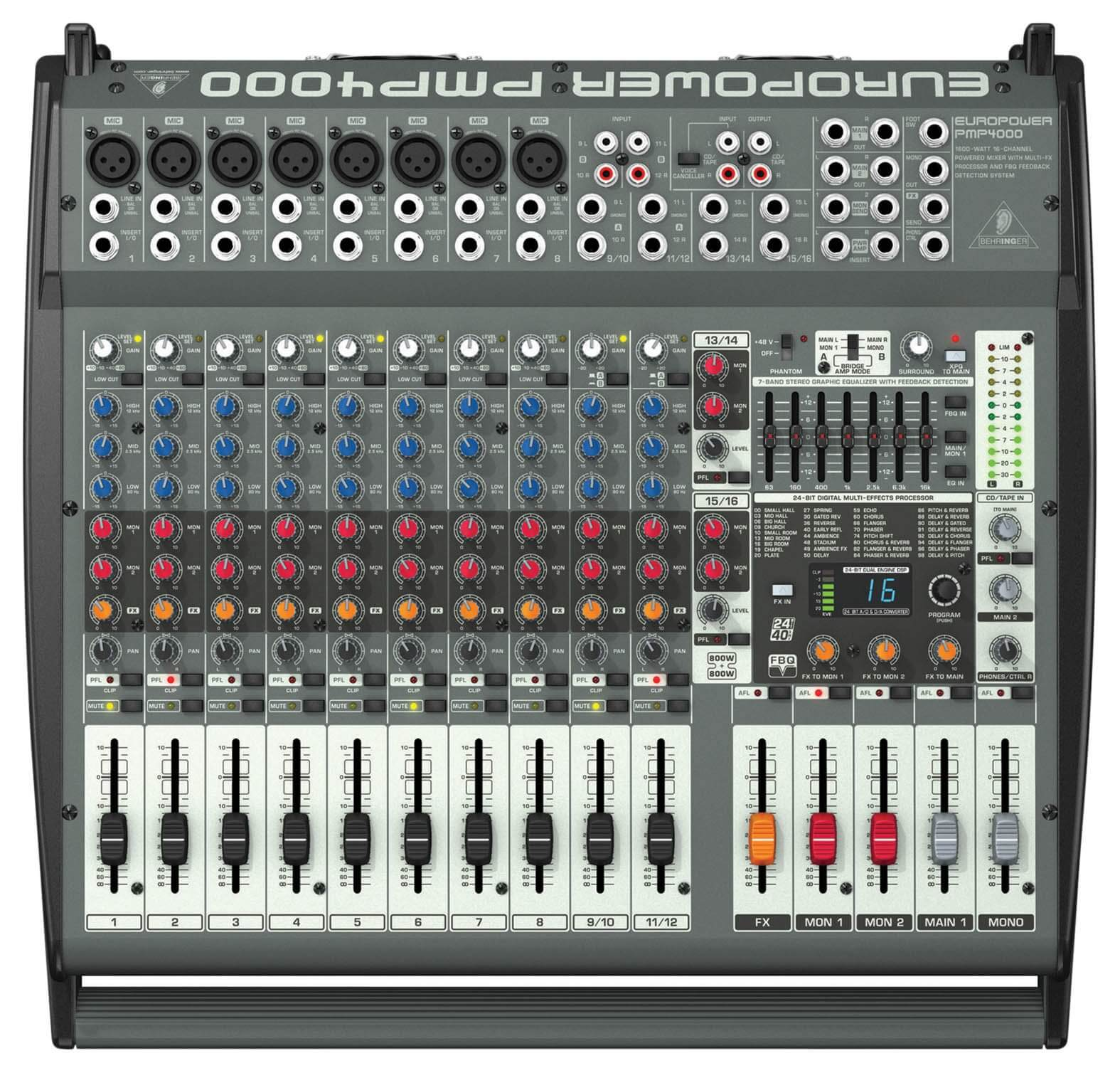 Behringer PMP4000 Europower Flatbed Mixer Amplifier