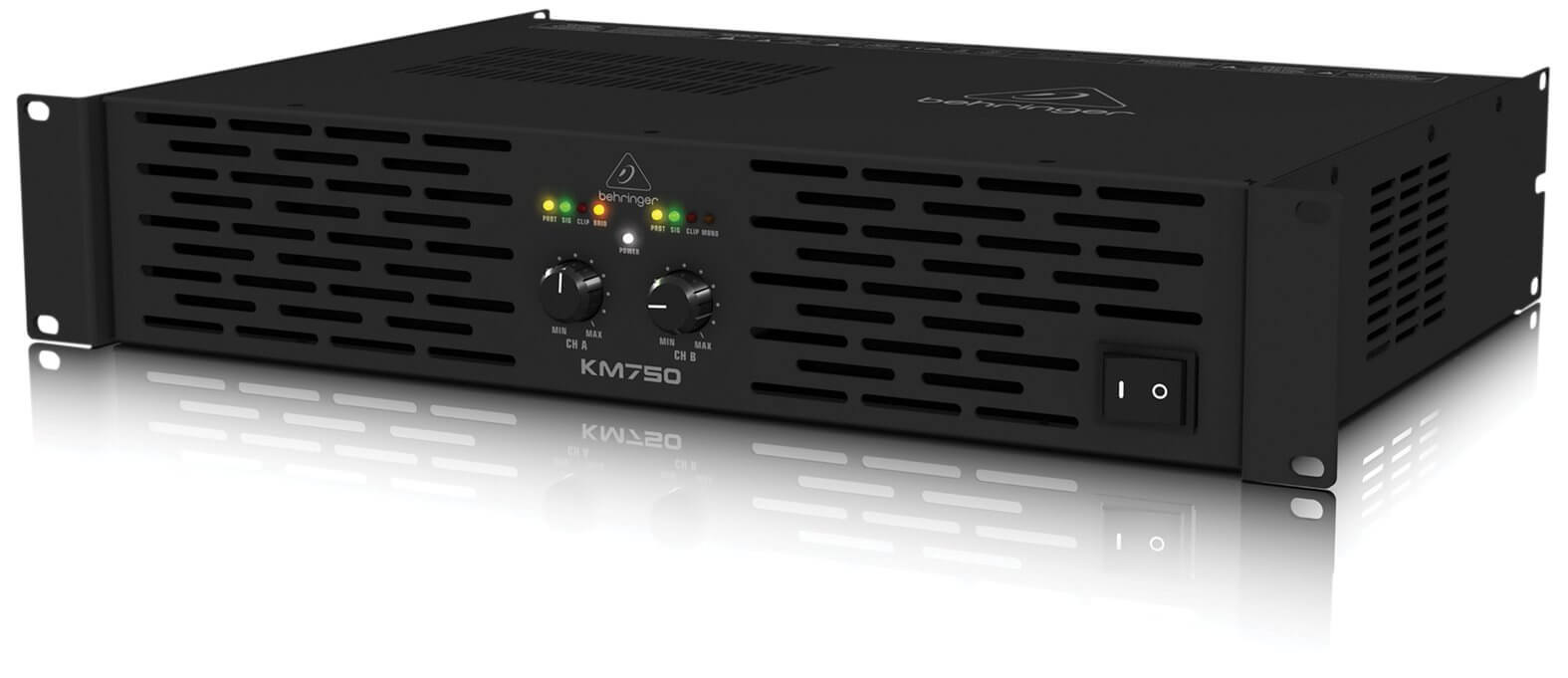 Behringer KM750 Professional 750-Watt Stereo Power Amplifier with ATR (Accelerated Transient Response)
