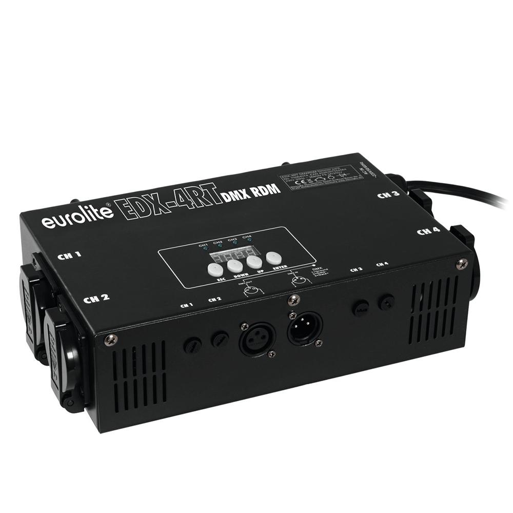 Eurolite EDX-4RT DMX RDM Truss Dimmer Pack 4 Channel Dimming Lighting