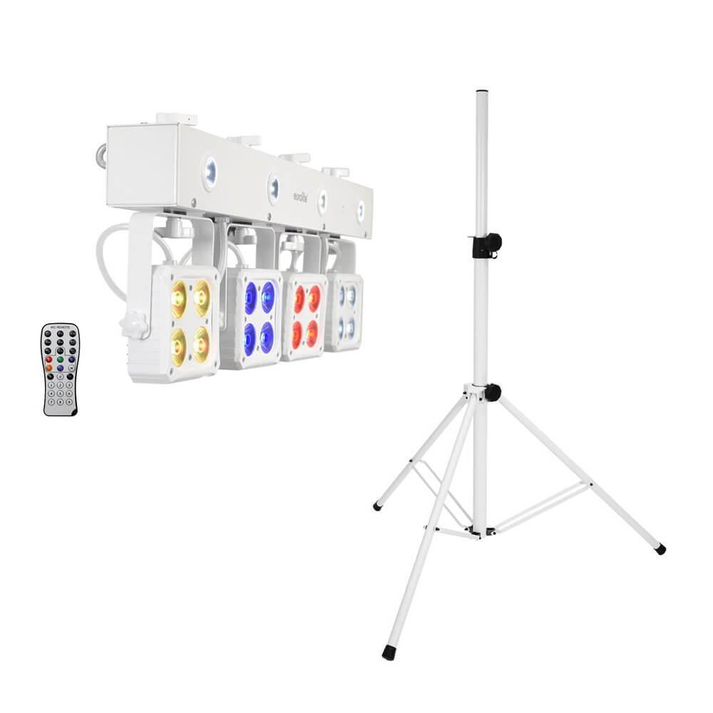 Eurolite Set LED KLS-180 white + BS-2 EU Loudspeaker Stand White