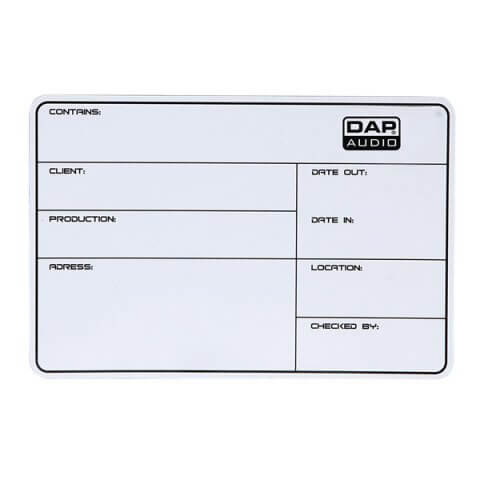 DAP flightcase Label