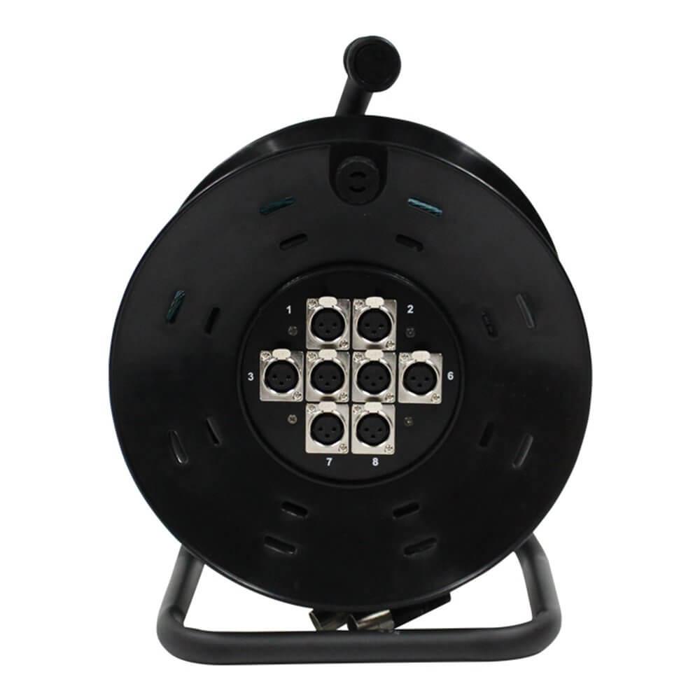 W Audio 8 Way XLR Multicore Drum Stage Box (25m)