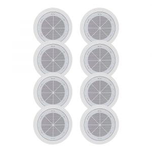 8x TOA PC-1868W-EB Ceiling Speakers 6W 100W White