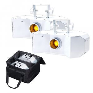 Equinox Helix 100W Gobo Flower (White Housing) Pair With Carry Bag