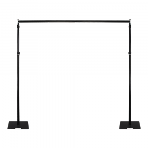 Equinox Pipe & Drape Compete System in Black (Long)
