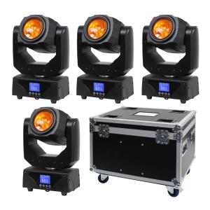 4x Equinox Triton Beam Moving Head 30W LED Lighting Effect inc Case