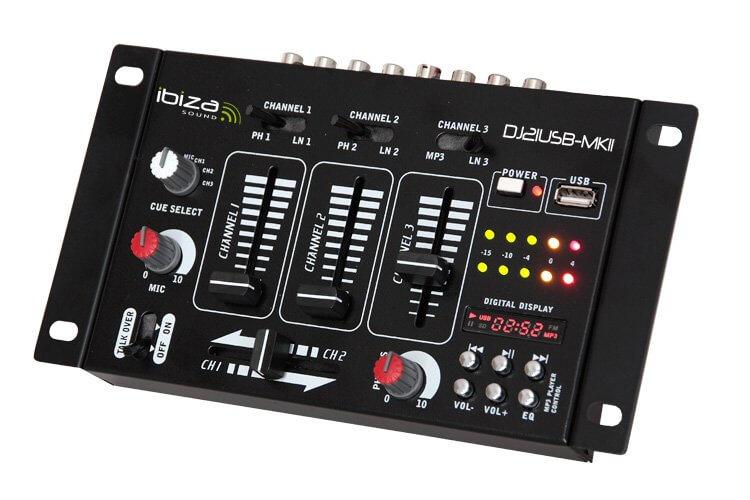 Ibiza DJ21USB DJ Mixer Desk MKII