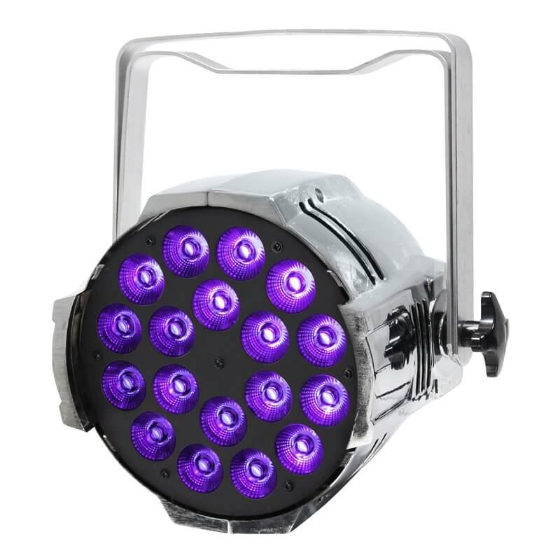 LEDJ Performer Chrome HEX MKII 18 x 12w LED Par Can