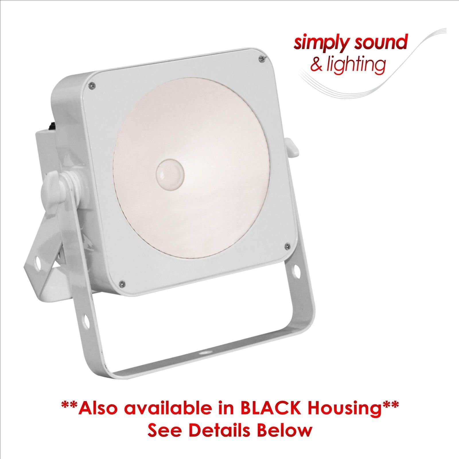 LEDJ White Slimline 1T36 RGB COB LED DJ Architectual Lighting