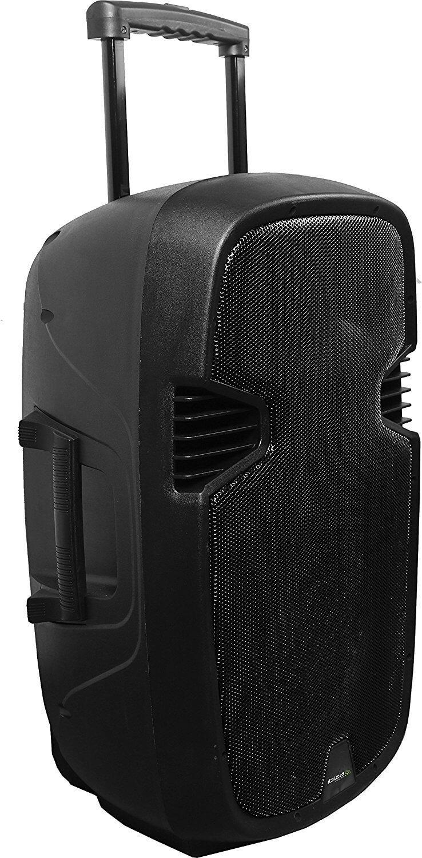 "Ibiza Hybrid 15"" Portable Battery PA Speaker System inc Wireless Handheld Mics"