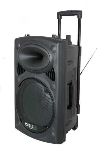 "Ibiza Sound Portable 15"" 800W Battery Powered Bluetooth PA System inc Wireless Mics"