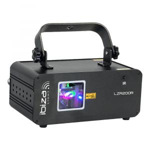 Ibiza Light LZR200R 200MW Red Graphic Laser inc. Remote