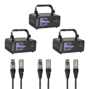 Ibiza Light RGB Laser iLink Set Linkable Laser Show Bundle