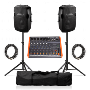 "Ibiza Sound XTK10A Active Speaker 10"" 600W Sound System inc. Mixer"