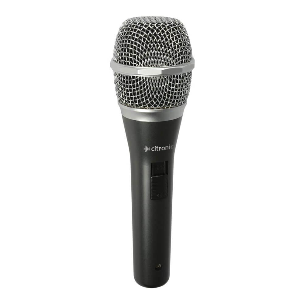 Citronic DM50s Neodymium Dynamic Vocal Microphone Band Karaoke DJ inc Carry Case