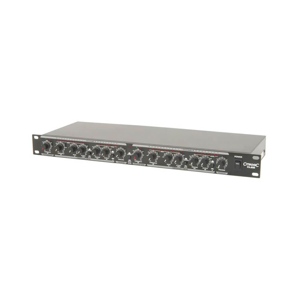 Citronic CL22 Stereo Compressor Limiter Gate Rack Studio Effect Processor