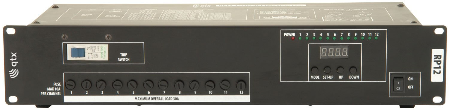 QTX RP12 12 Channel DMX Switch Relay Pack