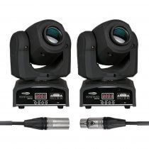 2x Showtec Kanjo Spot 60 LED 60W Moving Head Gobo Spot DJ Disco