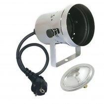 Showtec PAR 36 Pinspot Spot Light Polished Silver Chrome 6V 30W Mirrorball + Lamp