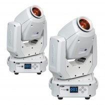 2x Showtec Phantom 65 Spot White 65W LED Moving Head DJ Disco Lighting