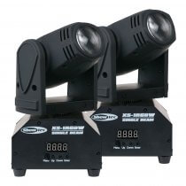 2x Showtec XS-1RGBW Mini Moving Head Beam 10W LED Lighting Effect DJ Disco