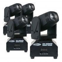 4x Showtec XS-1RGBW Mini Moving Head Beam 10W LED Lighting Effect DJ Disco