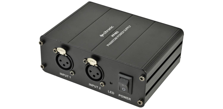 Citronic Dual Channel Phantom Power Unit