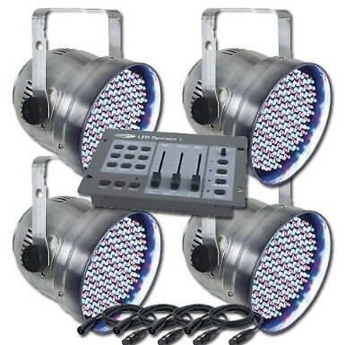 Showtec LED Par 56 Kit inc controller & cables