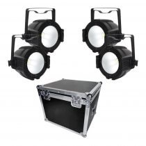 LEDJ Performer 200 COB LED PAR 64 Lighting 200W Stage Light RGBW Bundle