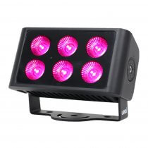 LEDJ Spectra Flood Q6 Exterior Fixture IP65 Outdoor LED Wash 6 x 5W RGBW DMX